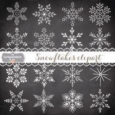 Vector snowflakes cliparts by burlapandlace on Creative Market
