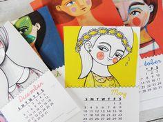 Printable calendar 2015 PDF monthly by ireneagh via @etsy #calendar #2015 #gifts #holidays