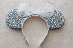 Cinderella Inspired Rhinestone Minnie Mouse Ears