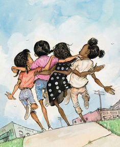 Black girl art - african american art black art hand embroidery frends cross stitch pattern printable black g Art Black Love, Black Girl Art, Art Girl, Black Girls, Black Men, Natural Hair Art, Black Art Pictures, Black Artwork, Art Et Illustration