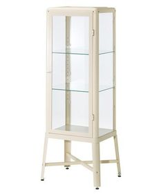 Reminiscent of vintage glass and metal medical cabinets, this three-tier curio is insanely versatile—use it in a kitchen to hold glassware, a bathroom to corral towels, or a bedroom to put favorite accessories on display.