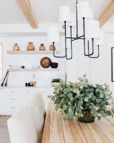 Exciting Modern Farmhouse Dining Room Decor Ideas – Home Decor Ideas Luxury Interior Design, Home Interior, Interior Ideas, Interior Modern, Interior Paint, Kitchen Interior, Farmhouse Table Centerpieces, Style Deco, Dining Room Inspiration