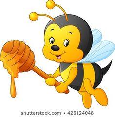 Art Drawings For Kids, Cartoon Drawings, Bee Drawing, Bee Images, Cartoon Bee, Bee Party, Cute Butterfly, Bee Theme, Free Vector Art