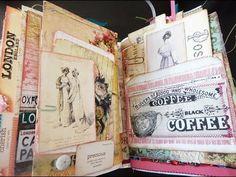 Jane Austen Themed Journal (SOLD) - Cottage Rose - Flip Through - YouTube