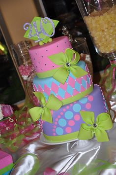 Colorful Party Cake by Designer Cakes By April, via Flickr