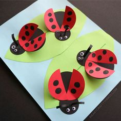 How to Make a Paper Ladybug Craft | I Heart Crafty Things