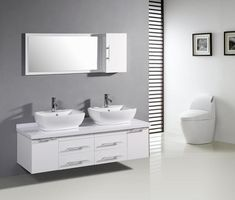 Bring Brighter and Elegant Bathroom Interior with White Bathroom Vanity White color becomes the favorite choice and often used for home interior because it brings clean, pu...