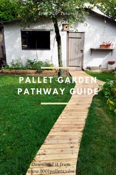 "This tutorial by François from ""Torpoon Home Creation"" will show you how to built a pallet garden pathway for your garden! Easy, cheap & gorgeous... what else? Create a beautiful and attractive walkway to keep your shoes clean and your plants safe, or to provide a safe surface to walk on in inclimate weather."