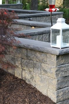 StoneLedge wall in Fieldstone Free Standing Wall, Outdoor Living, Outdoor Decor, Stepping Stones, Living Spaces, Sidewalk, Things To Come, Wall Units, Building