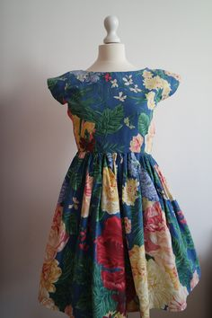 Floral dress made by me. I made it from bedsheet. I like to sew from vintage fabric, because it's more eco-friendly and unique
