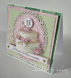 Karteczkowo Ani S: Kartka z tortem:):