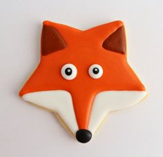 Fox Sugar Cookie Inspiration -- from a star cookie cutter!