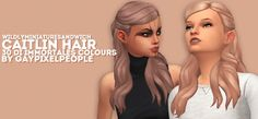 WMS' Caitlin Hair recolors by gaypixelpeople at SimsWorkshop • Sims 4 Updates