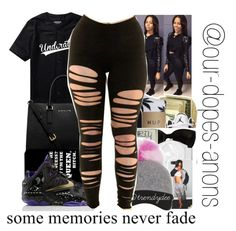 """""""Some Memories Never Fade"""" by our-dopest-anons ❤ liked on Polyvore featuring MICHAEL Michael Kors and NIKE"""