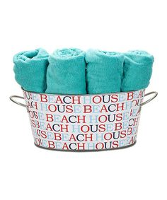 Take a look at this Infinity Beach House Cherry Personalized Venti Tub by The MacBeth Collection on #zulily today!