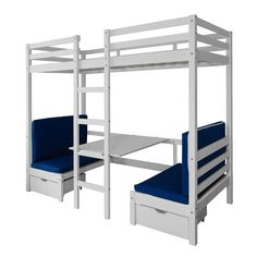 Cabin Bed Bunk Bed Max in White Kids Bed Childrens Bunk High Sleeper Cabin Bed, Broadway Themed Room, White Kids Bed, Sleep Center, Bed For Girls Room, High Beds, Pink Cushions, Extra Bed, Room Themes