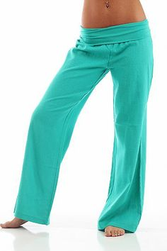 Fold Over Linen Pants, Jade