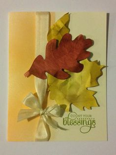 Fall Leaves - Stampin' Up! Color Me Autumn Gratitude for Days - Blessings | Midnight Crafting #Cardmaking idea
