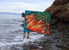 Acrylic Painting Inspiration, Underwater Painting, Lake Art, Nautical Art, Tropical Art, Art Drawings, Fish Drawings, Fish Art, Oeuvre D'art