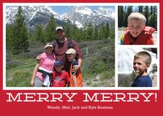 Red Merry Merry Flat Photo Cards @studioNotes