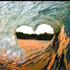 Just a heart... In the ocean. <3