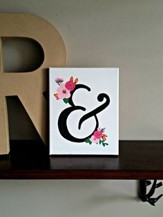 Canvas Ampersand by BabyJuliette on Etsy