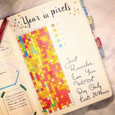 Year In Pixels : un an pour devenir heureux – Passion Carnets