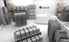 "Shop design 2013 Franchise fashion shop ""Luhta Finland fashion"" in Kemerovo in Russia."
