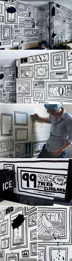 Whiteboard Walls as an Artistic Statement in Public Places