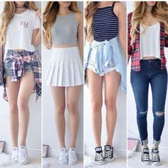 Cute Date Outfits, Cute Skirt Outfits, Really Cute Outfits, Casual School Outfits, Teen Fashion Outfits, Girly Outfits, Cute Casual Outfits, Look Fashion, Outfits For Teens