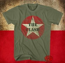 New The Clash Star Circle Mens Classic Vintage T-Shirt