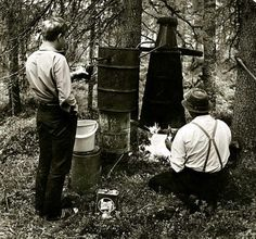 A prohibition act was in place from 1919-1932. Thi didn't stop Finns from drinking. A picture from the 60s
