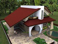 (19) renovat.ro - Fotografii 3 Bedroom Home Floor Plans, House Floor Plans, Kerala House Design, Modern House Design, Villa, Architectural House Plans, Kerala Houses, A Frame House, Mansions Homes