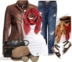 """black and brown"" by stacy-gustin on Polyvore"