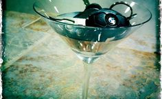 Love this shot we took of the keys in the martini glass