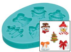 Sweetly Does It Christmas Silicone Fondant Mould