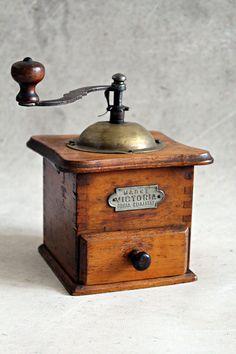 Vintage coffee grinder wooden coffee grinder by MagicVintageShop