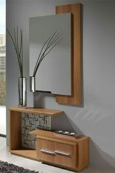 Jean Baudrillard: Mirror gives the space completeness. Mirror Decor Living Room, Entryway Decor, Home Decor Furniture, Furniture Design, Dressing Table Design, Dressing Table Mirror, Home Interior Design, Interior Decorating, Wardrobe Design Bedroom