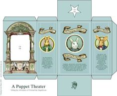 a puppet theater box in vintage style  http://www.thetoymaker.com/Toypages/11Florimel/11Florimel.html#