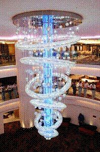 ship chandelier-norwegian epic.... took a pic in front of this chandeleier