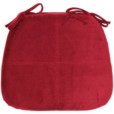 Better Homes & Gardens Memory Foam Chair Pad Red