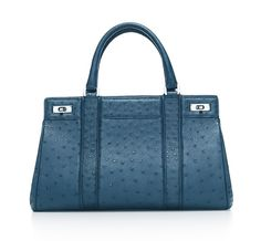 Tiffany & Co. | Item | Genevieve satchel in Florentine blue ostrich. More colors available. | United States