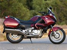 Honda NV700 -- the descendant of the PC800, very sleek, very commuter, it's what it is through and through.
