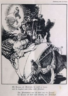 Sergius Hruby, The Dream, illustration for Die Muskete