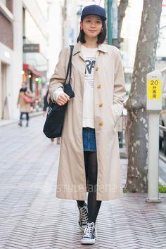 Noel | Aquascutum LONDON  A.P.C. NEW ERA CONVERSE BIG LOVE | 1st week  Feb. 2017 | Shibuya | Tokyo Street Style | TOKYO STREET FASHION NEWS | style-arena.jp
