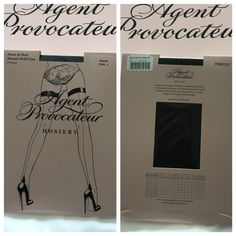 Seam & heel stretch hold-ups Stocking Agent provoceteur Accessories Hosiery & Socks