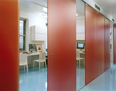 Creative Time Offices. Moveable wall panels.