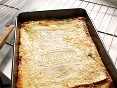 A Completely Edible Cookbook That Bakes Into a Lasagne - yes, you read that right, it's EDIBLE. lol!