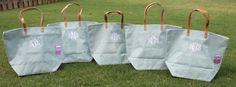Monogrammed/Personalized Large Jute Tote Bag