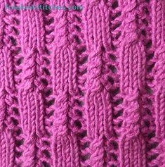 Wire brush knitting stitches